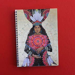 notebook 15x21cm, 'La turquoise, pierre de protection' recycled paper