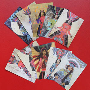 10 cards <strong>15x21</strong>cm Medicine Women to frame