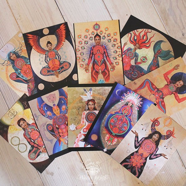 10 cards Medicine Women 10x15cm - set 2