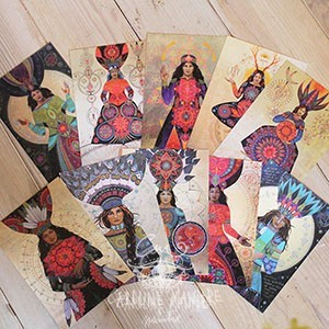 10 cards <strong>10x15cm</strong> Medicine Women - Set 1